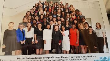 Smriti e Francesca a Washington per discutere l'uguaglianza di genere