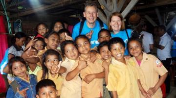 Raccogliere fondi per i bambini e' la vita che ha scelto Giuseppe Fusco