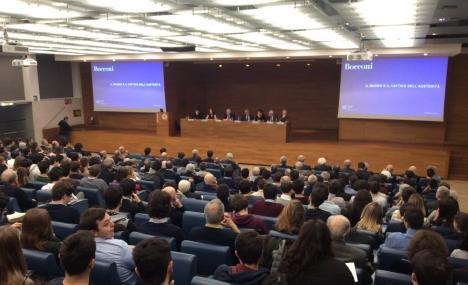 Invito/ Genovese e Di Noia (Consob) in Bocconi per discutere di mercati finanziari