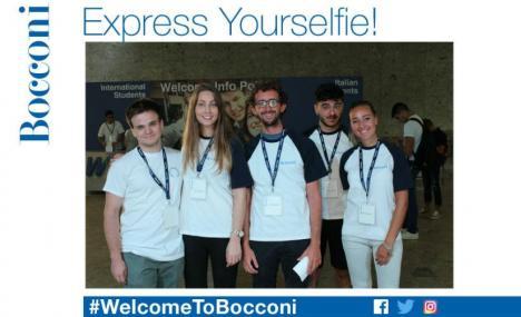 Festeggia con un selfie il tuo primo giorno alla Bocconi