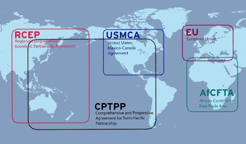 Le catene globali del valore promuovono l'integrazione attraverso gli accordi commerciali